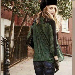 CAbi S Get Together Sweater Blouse Sheer Black